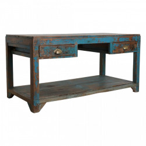 Masa albastra din lemn 75x164 cm Work Raw Materials