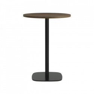 Masa bar neagra/maro inchis din lemn si otel 70 cm Form Normann Copenhagen