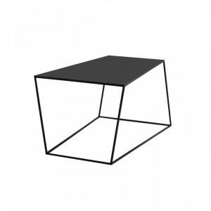 Masa cafea neagra din metal 100x60 cm Zak Custom Form