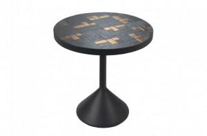 Masa cafea rotunda cu detalii aurii 50cm Labo Versmissen