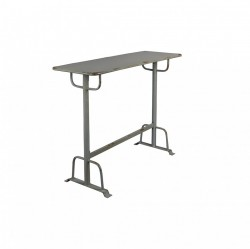 Masa de bar din metal gri 104 cm Declan Grey Dutchbone