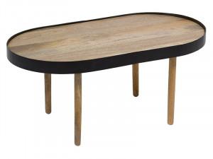 Masa din lemn de mango si fier 46x82 cm Ellipse Santiago Pons