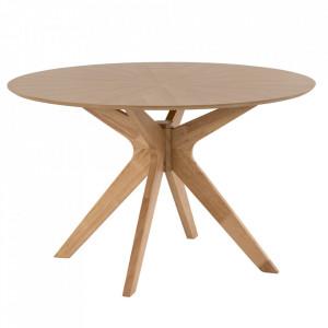 Masa dining din lemn 120 cm Carmel Oak Somcasa