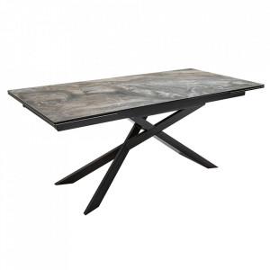 Masa dining extensibila grej/neagra din ceramica 90x180(260) cm Euphoria Invicta Interior