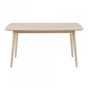 Masa dining maro deschis din MDF si lemn 80x150 cm Nagano Actona Company