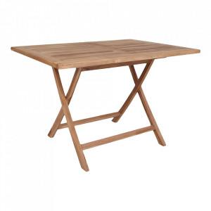 Masa dining maro din lemn de tec 80x120 cm Oviedo House Nordic