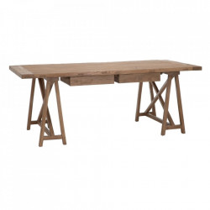 Masa dining maro din lemn de ulm 100x200 cm Konan Denzzo