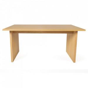 Masa dining maro din PAL si lemn 90x200 cm Stripe Woodman