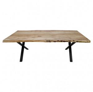 Masa dining maro/neagra din lemn si fier 90x140 cm SoHo HSM Collection