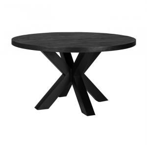 Masa dining neagra din lemn de mango si fier 140 cm Catana Richmond Interiors