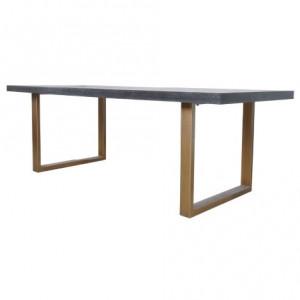 Masa dining neagra/maro alama din lemn de stejar si inox 100x220 cm Blackbone Richmond Interiors