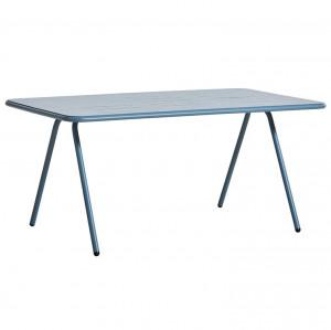 Masa dining pentru exterior albastra din aluminiu 85x160 cm Ray Woud
