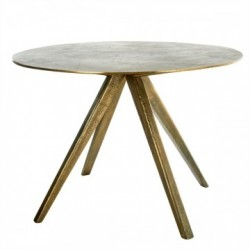 Masa dining rotunda din alama si metal 100 cm Circle Brass Pols Potten
