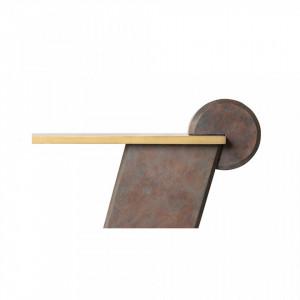 Masa maro/aurie din beton armat cu fibra de sticla pentru cafea 60x115 cm Fleek Coffee Versmissen