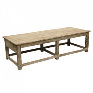 Masa maro din lemn de tec pentru cafea 72x182 cm Gopoa Raw Materials