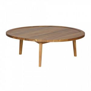 Masa maro din lemn pentru cafea 100 cm Sprok Woood