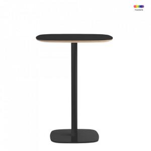 Masa neagra din otel si linoleum 70x70 cm pentru cafea Form Cafe Normann Copenhagen