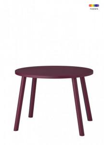 Masa rosu burgund din lemn de stejar 39x54 cm pentru copii Mouse Nofred