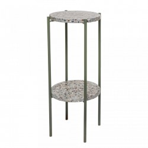Masa rotunda verde din ciment cu picioare din metal 25x60 cm Bloomingville