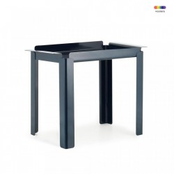 Masuta albastra din otel 33x60 cm Box Table Normann Copenhagen