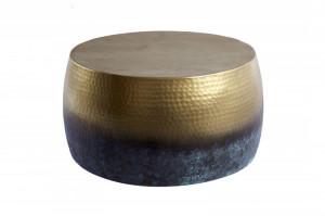 Masuta aurie/albastra din aluminiu pentru cafea 60 cm Orient Flamed Invicta Interior
