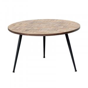 Masuta din lemn si fier pentru cafea 70 cm Lexington Lifestyle Home Collection