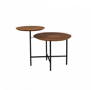 Masuta din metal si lemn pentru cafea 48,5x75 cm Mathison Dutchbone