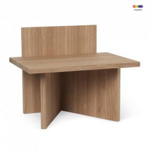 Masuta maro din lemn 29x40 cm Avi Oblique Ferm Living