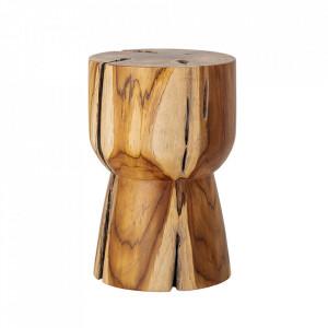 Masuta maro din lemn de tec 30 cm Gaia Bloomingville