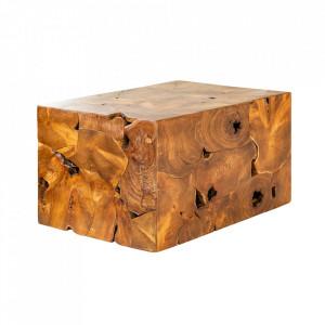 Masuta maro din lemn pentru cafea 60x90 cm Square Invicta Interior