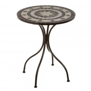 Masuta multicolora din ceramica si metal pentru exterior 60 cm Poise Table Single Unimasa