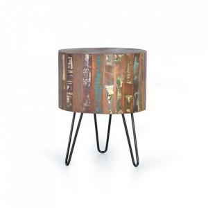 Masuta multicolora din lemn si metal 46 cm Ricon Giner y Colomer