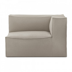 Modul canapea bej din bumbac si in 119 cm Catena Armrest Right Natural Ferm Living