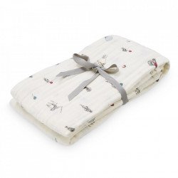 Muselina multicolora din bumbac Swaddle Holiday Cam Cam