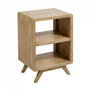 Noptiera maro din lemn mindi Clear Simple Santiago Pons
