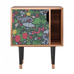 Noptiera multicolora din MDF si lemn Summer Berries Furny