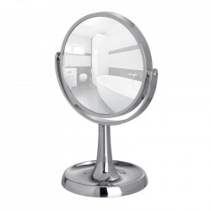 Oglinda cosmetica de masa rotunda argintie din plastic 19x28 cm Rosolina Wenko