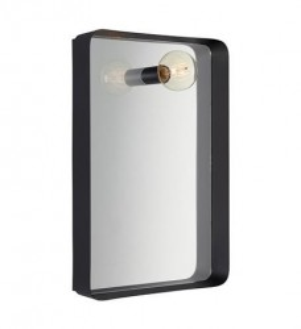 Oglinda cu lampa din metal negru 41,5x10x61 cm Image Markslojd