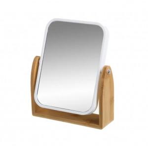 Oglinda de masa din lemn de bambus 16,3x19,5 cm Double Matt Unimasa