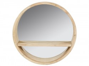Oglinda din lemn din arbore de cauciuc 54 cm Industrial Round Santiago Pons