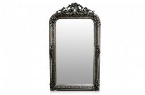 Oglinda dreptunghiulara argintie cu rama din lemn 88x158 cm Baroque Versmissen