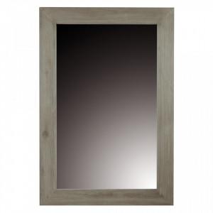 Oglinda dreptunghiulara gri din lemn de tec 80x120 cm Cosmopolitan Zago