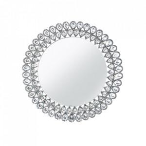 Oglinda rotunda argintie din sticla 80 cm Diamonds Invicta Interior