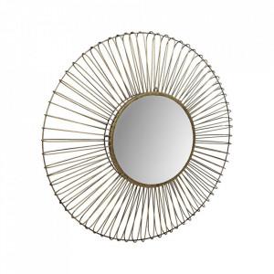 Oglinda rotunda aurie/neagra din fier si sticla 90 cm Tarifa HSM Collection