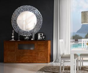 Oglinda rotunda din aluminiu si sticla 83 cm Yvia Giner y Colomer