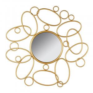 Oglinda rotunda din MDF si fier 90 cm Splash Santiago Pons