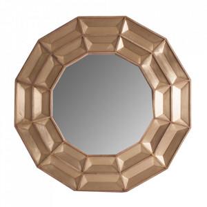 Oglinda rotunda maro din lemn 120 cm Vex Vical Home