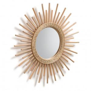 Oglinda rotunda maro din ratan 60 cm Maeve La Forma