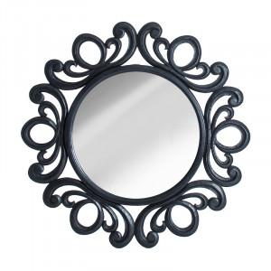 Oglinda rotunda neagra din lemn 120 cm Alana Vical Home