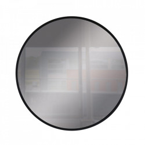 Oglinda rotunda neagra din sticla si metal 80 cm Anne Steinhauer